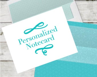 Personalized Note Card for Gift items