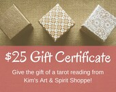 25 Dollar Gift Certificat...
