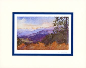 These Healing Mountains 8x10 matted reproduction