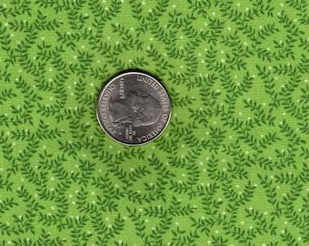 Light Green Mini Sprigs Vintage Springs Industries Quilt Fabric OOP