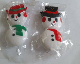 A Pair Christmas Snowmen Dolls on where