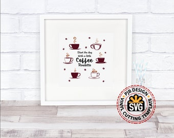Coffee Roulette Sign, cushion, wall sign design htv,  svg, png, pdf, Ai Eps for silhouettte cricut and ScanNcut HTV