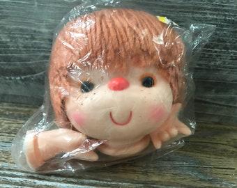 "Vintage Mangelsen/'s Doll Craftin 6/"" Angie Head /& Hands Lavender Hair NIP 163-90"