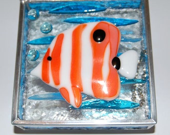 Fish Stained Glass Box