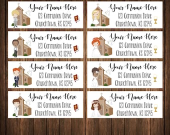 First Communion Address Labels, Mailing Labels