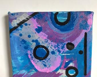 4x4 abstract acrylic on canvas
