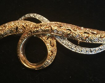 Gold and Silvertone Pin
