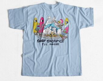 Vintage Surf T-shirt T & C Surf Sacrifice 80s