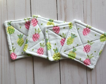 Set of 4 Reversible Quilted Coasters