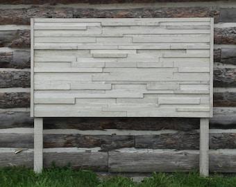 Whitewashed Headboard / Rustic Wood Headboard / Queen Size Bed
