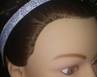 Purple & White Retro Dots Non Slip Headband