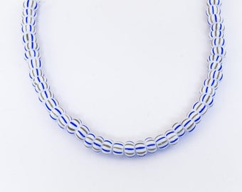 6/0 Opaque Blue/Grey Double Stripe Seed Bead (20 gm) #CSB001
