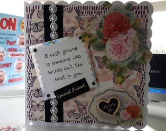 Handmade Special Friend card with nice sentence