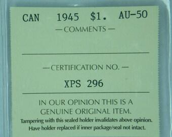 1945 Canadian Silver Dollar