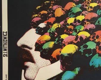 1970s Polish Stage Play Poster J. M. K. Wscieklica - Original Vintage Poster