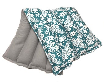 Microwave Heating Pad LARGE Heat Therapy Rice Bag, Doula Bag, Lumbar Heat Pad, Cold Pack, Flax Seed, Aromatherapy