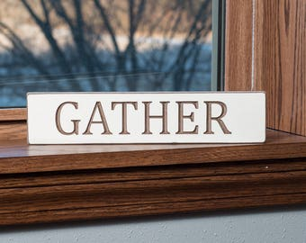 Minimalist Inspirational Gather Word Stick