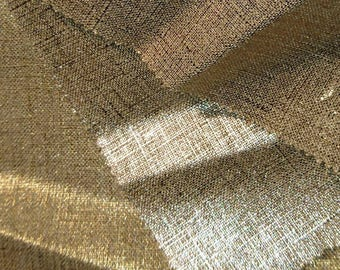Linen with one metallic face - 4 colours to choose from / By 50 cm