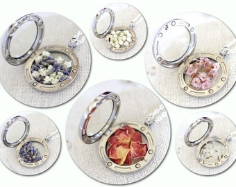 Real Flowers, Real Dried Flowers, Dandelion Necklace, Real Rose Necklace, Rose Petals, Dried Flowers Necklace, Purple Flowers, Locket