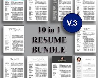 Resume Bundle V.3 Professional Resume Template CV Template Cover Letter for Word Professional Resume Design Instant Download for MS Word