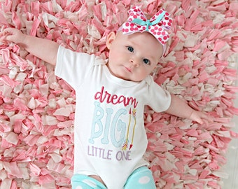 Newborn Girl Coming home outfit,  baby bring home outfit for girls, Take home outfit, Dream big little one