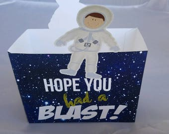 Astronaut Party Box, Space Party Box, Astronaut Party Favor Box, Space Party Favor Box,  Had a Blast Party Favor Box. Set of 10