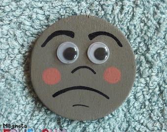 Gray Folichoux not happy - handmade magnet