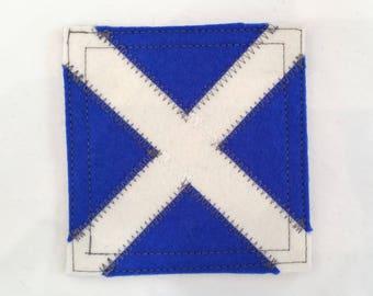 Signal flag M nautical coaster