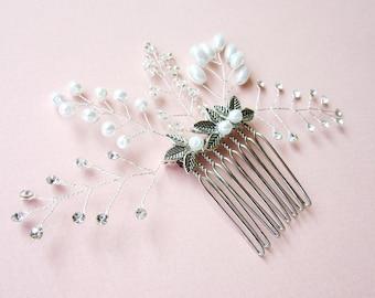 Bridal  Hair Comb, Rhinestone Hair Comb, Silver Hair Comb, Wedding hair comb, Wedding Headpiece, Crystal Bridal Headpiece, Hair Jewel
