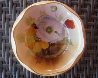 Antique Japanese Bowl, Dish, Nippon Porcelain, Hand Painted Floral Design, Vintage 1910s, FREE SHIPPING