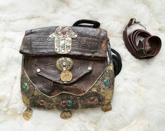 Vintage Leather Hansa Moroccan Bag