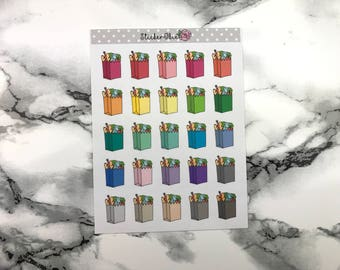 RF019 Grocery Shopping Bag Planner Sticker