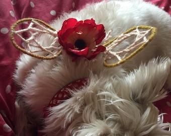 Faenine Pet Wings ©, for Faery Pets & People, OOAK Dog Faery Wings