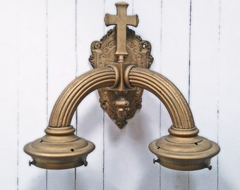 Religious wall kighting sconce
