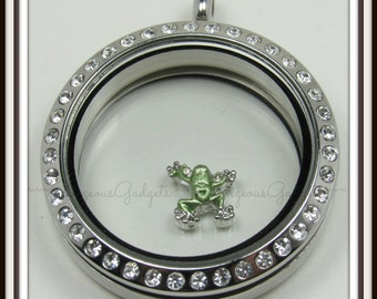 Frog Floating Charm for Glass locket / Floating Locket / Memory Locket
