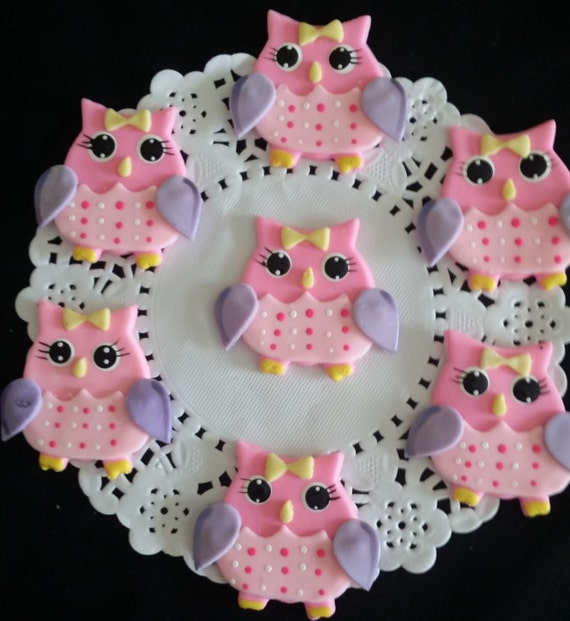 Owl Baby Shower Owl Cake Topper Owls Cupcake Toppers Owl First
