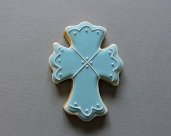 Fancy cross cookie FAVORS  for baptism communion wedding church events (#2356)