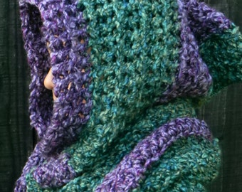 Scoodie, Chunky Hooded Scarf, Hooded Scarf, Scarf Hat, Hoodie Scoodie, Long Scarf, Snood, Hooded Scarves