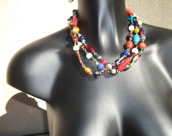 antique Millefiori necklace