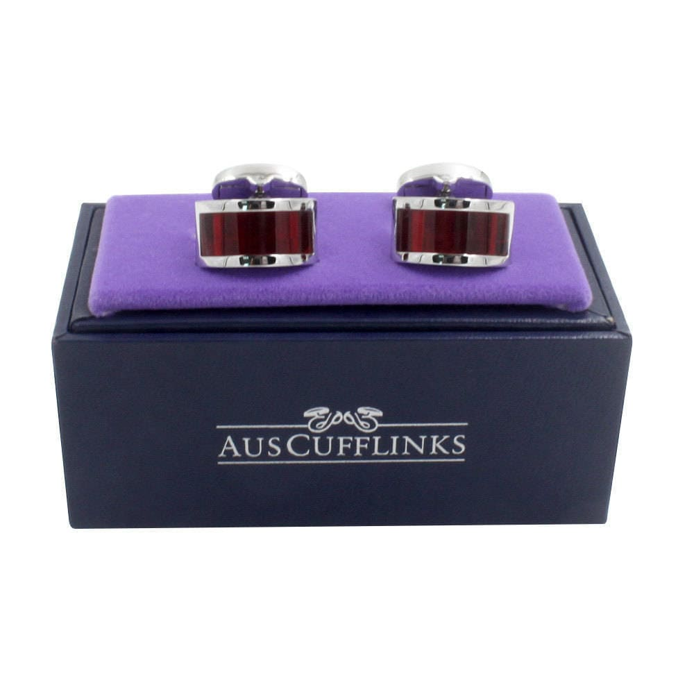 Fortieth Wedding Anniversary Gifts: 40th Wedding Anniversary Gift For Husband Ruby Red Cufflinks