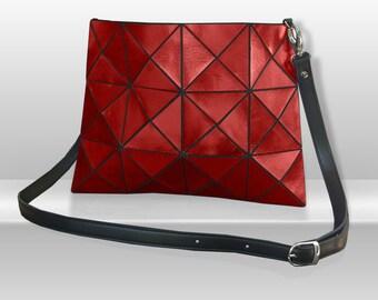 Metallic Red Leather Bag, Leather crossbody bag, Womens leather Bag, Leather Crossbody, red Crossbody Bag, red Bag, Crossbody Bag, leather