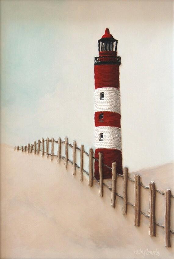 Leuchtturm-Malerei maritimes Kinderzimmer Dekor Leuchtturm