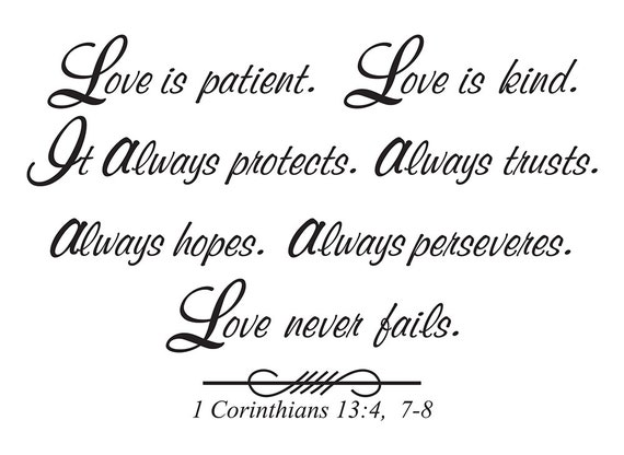 Love Is Patient. Love Is Kind. It Always Protects. Always