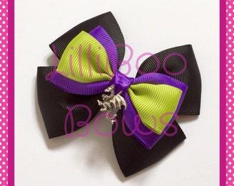 Maleficent Villain Inspired Hair Bow / Bag Charm