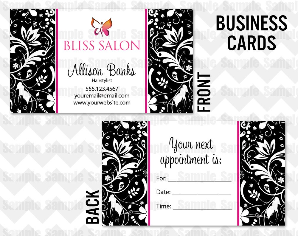 Business Card Printable Salon Business Card Hairstylist