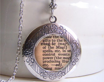Locket, Magic Definition Necklace, Magic Locket, Harry Potter Inspired Necklace