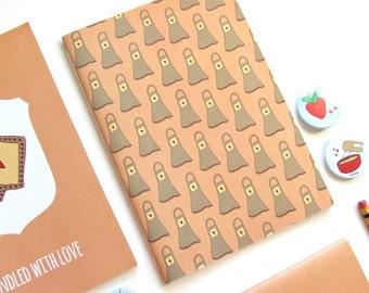 Apron Pattern - Blank A5 Notebooks - Journal