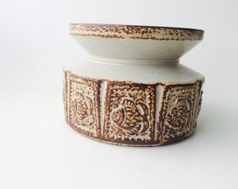 Vintage Ceramic Candle Holder/Vintage Candle Stand/Vintage Pottery/Vintage Nautical Home Decor/MCM Home Decor/Fish Pottery/Fish Design