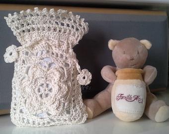 The lavender bio.pochette crochet.sachet Lavender bag crochet.