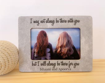 Best Friend Christmas GIFT Frame Personalized Picture Frame Gift Long Distance Friendship